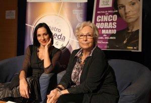 Natalia Millán y Josefina Molina en el Teatro Alameda de Málaga