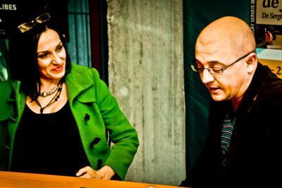 Natalia Millán en la presentación de 'Cinco horas con Mario' en Valencia
