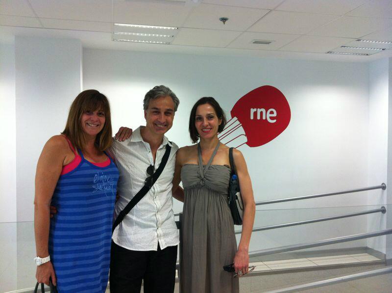 Marta Valverde, Alberto Vázquez y Natalia Millán en RNE