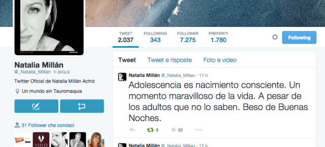 ¡Natalia ya tiene cuenta oficial en Twitter!