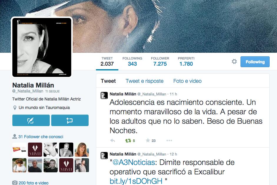 Natalia Millán Twitter