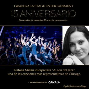 Natalia actuará en la Gala Stage Enterteinment 15 Aniversario